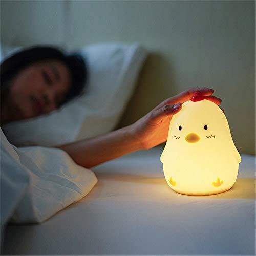 QXHELI Creatief mooi nachtlampje verpleegster alarm met sluimerfunctie slaapkamer bedlampje nachtlampje sfeerverlichting opladen, een