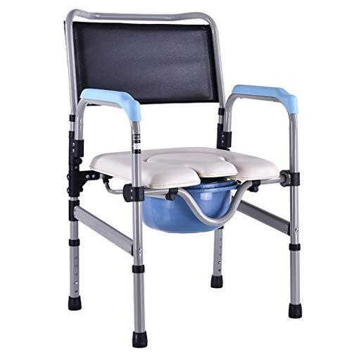 XXLY Klappbarer Toilettensitz Mit Kommode - Porta Potty Und Kommode Chair - Comfort Chair Perfekter, Höhenverstellbarer Stahlrohr-Sicherheitsrahmen