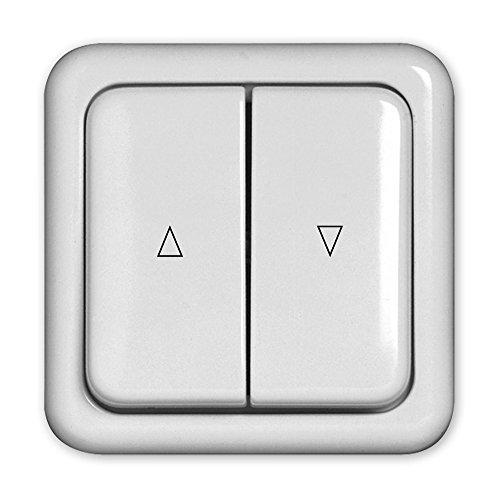 Doppelwippentaster, Rolladentaster, Wippentaster, umschaltbar zwischen Schalter-/Tasterfunktion, Unterputz-Montage, 1-polig, SELVE