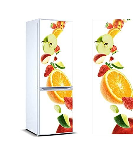 Oedim Pegatinas Vinilo para Frigorífico Frutas | 185x70cm | Adhesivo Resistente y de Fácil Aplicación | Pegatina Adhesiva Decorativa de Diseño Elegante