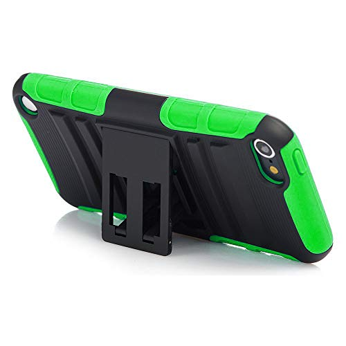iPod Touch 7th Generation Case, Rugged Hybrid Dual Layer Protection Kickstand Full Cover Case with Video Watching Stand for Apple iPod Touch 7 7th Gen 6 6th Gen 5 5th Gen (Green)
