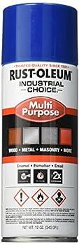 Rust-Oleum Corporation 1633830 Rust-Oleum 1624830 1600 System Multi-Purpose Enamel Spray Paint 12-Ounce OSHA Safety Blue 12 Ounce