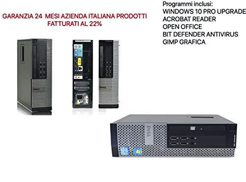 DELL 7010 SFF Intel Core i5 3470 3.20Ghz/RAM 8GB/SSD 240 GBSSD/DVD/wifi (RICONDIZIONATO CERTIFICATO)
