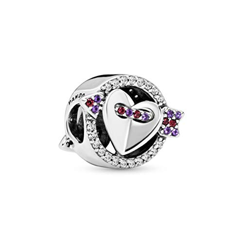 Pandora Jewelry Sparkling Arrow and Heart Crystal and Cubic Zirconia Charm in Sterling Silver