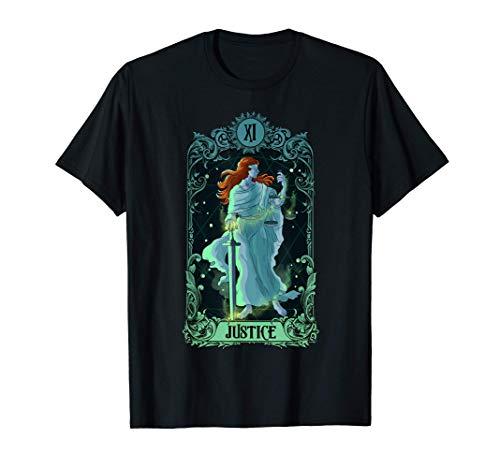 Tarjeta de Tarot de Justicia Diseño de Arcanos Major Camiseta