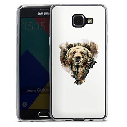 DeinDesign Custodia sottilissima Compatibile con Samsung Galaxy A5 Duos 2016 Custodia per Cellulare di Silicone Trasparente Cover Semplice Orso Foresta Animali