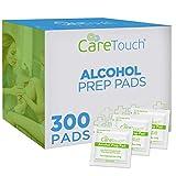 Care Touch Almohadillas de preparación estériles con alcohol, tamaño mediano, 2-ply – 400 Toallitas con alcohol
