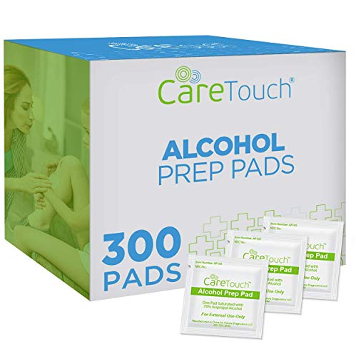 Care Touch Alcohol Prep Pads, Medium 2-Ply - 300 Alcohol Wipes