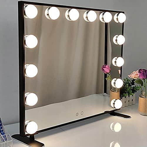 XIAOQIAO Bombilla de Espejo de tocador Hollywood con luz LED Espejo de...