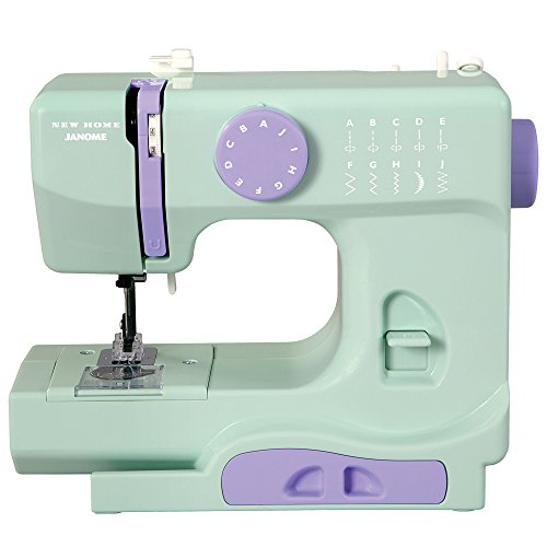 Janome Mystical Mint Basic, Easy-to-Use, 10-Stitch Portable, Compact Sewing Machine with Free Arm only 5 pounds