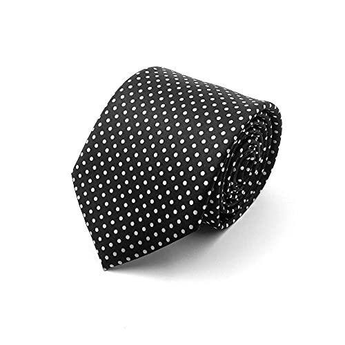 Good One tie Store Classic Black polka dot Men's Satin Tie Formal Necktie