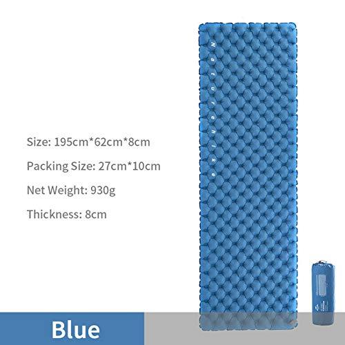 2020 Tapis de Camping Tente Double-airbag Camping Matelas d'air 40d Nylon TPU Lit Gonflable Couchage Pad Pique-Nique Voyage Bleu