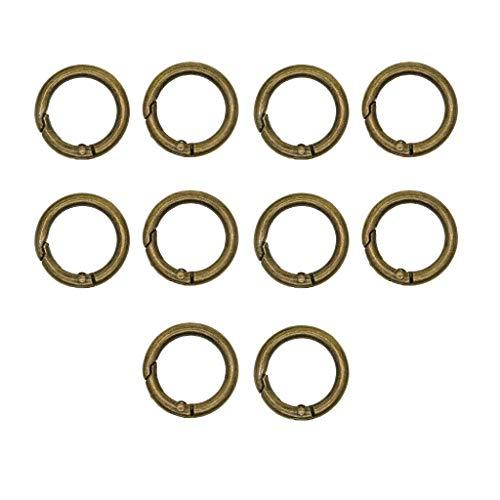 IPOTCH 10 Stücke 28mm Runde Split Ringe Schlüsselanhänger Ringe Schlüsselringe Metallringe für Auto Haus Schlüssel - Bronze