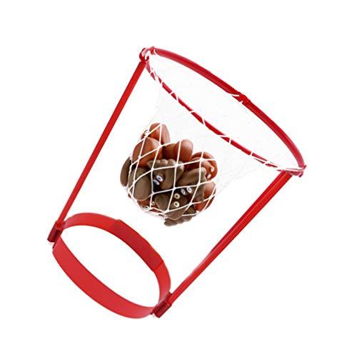 BESPORTBLE 2 Juegos de Cabeza de Aro de Baloncesto Juego de Baloncesto Ajustable Diadema con 40 Piezas de Bola de Poo Juguete de Baño Juego de Tiro para Bebé Niño Pequeño Niños