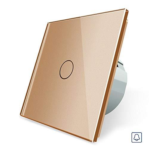 LIVOLO Dimmer- Lichtschalter 1 Fach Glas Touchscreen VL-C701D-13 Gold