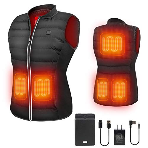 ZLTFashion Heated Vest Heated Jackets For Women And Men Size Temperature Adjustment Lightweight Cold-Proof Heating Clothes 6 Heating Area Long Heated With 5V Battery Pack Fits Outdoor worker