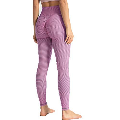 Levantamiento pantalones de yoga con textura para mujer, cintura alta, fruncida, levantamiento de glúteos, leggings para control de barriga, mallas fruncidas