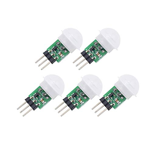 Onyehn IR Pyroelectric Infrared PIR Motion Sensor Detector Modules DC 2.7 to 12V(Pack of 5pcs)