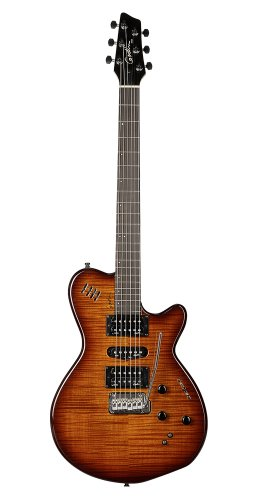 Godin xtSA Light Burst Flame HG E-Gitarre