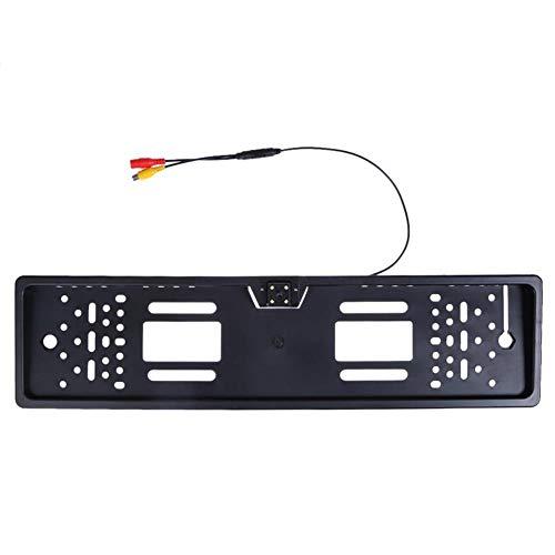 Cámara de visión trasera para matrícula de coche europeo 4/12 leds de visión nocturna de aparcamiento retrovisor de la cámara de visión trasera de la cámara accesorio de coche