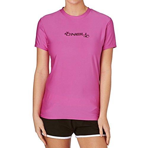 O'Neill Wetsuits Camisa de Manga Corta para Mujer Basic Skins, Mujer, Chaleco Protector, 3547-173-L, Fox Rosa, L