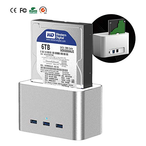 Ordioy 3.5/2.5 Inch External Hard Disk Box USB3.0 Data Transmission External Dc Power Supply Support 6tb Hard Disk Capacity for Sata Interface HDD SSD