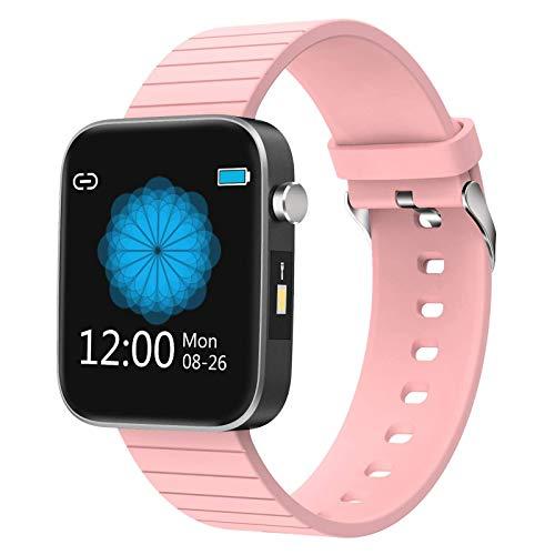 DOOK Smartwatch Hombre Y Mujer,Relojes Inteligente con Monito De Sueño Pulsómetro Presión Arterial Podómetro Caloría Impermeable IP68 para Android iOS Y Samsung Huawei Xiaomi IPhonePink