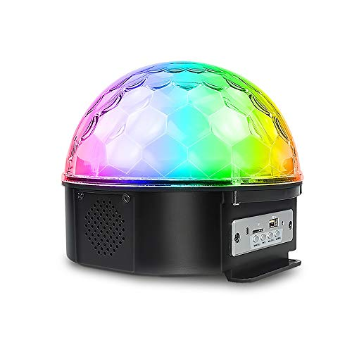 Genneric Disco-Licht Crystal Stage Lampe 9 LED Magic Ball Lichter 7 Modus Blitz Wiederaufladbare for Bar Club Spotlight genneric