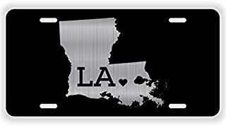 JMM Ind Louisiana State Love ? Vanity Novelty License Plate Tag Metal Fleur De Lis 12-Inches by 6-Inches Aluminum Etched ELP007