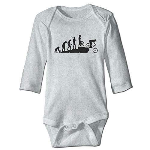 Blacaboer Shop Mountain Bike Downhill Car Long Sleeve Bodysuit Unisex Baby's Climbing Clothes Bodysuits Romper Short Sleeved Light Onesies Gray 6m