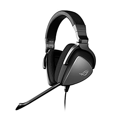 ASUS ROG Delta Core Gaming Headset with Immersive Gaming Audio, Better Comfort and Supports PC, PS4, Xbox One, Nintendo Switch and Mobile Devices, black from Asus