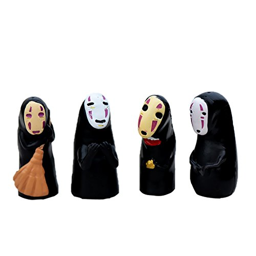 MagiDeal Miniatur Ornament Mini-Szene Fee-Verzierung Set - 4pcs No Face Man, 3,5x1,6cm