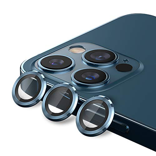 Tamoria Eagle Eyes Series Camera Lens Protector Compatible with iPhone 12 Pro Max 6.7 Premium Tempered Glass Aluminum Alloy Lens Screen Cover Film Accessories Designed for iPhone 12 Pro Max Set of 3 Gold