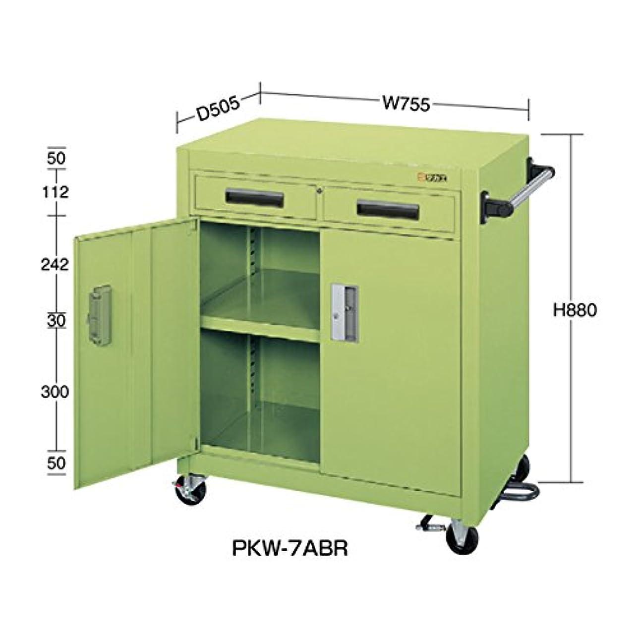 ネットライバル置き場サカエ パネルワゴン(フットブレーキ付) PKW-7ABR