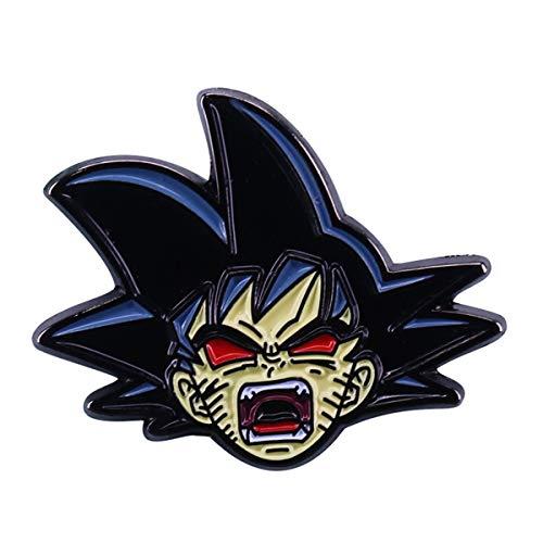 JiuErDP Dragón Bola Dibujos Animados Broche Goku Personalidad Metal Insignia Capa Pin Badge Broches y alfileres (Color : #3)