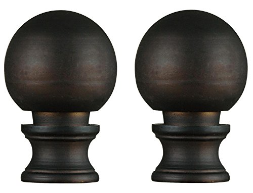 Dysmio Oil Rubbed Bronze Finish Ball Lamp Finial - 2-Pack