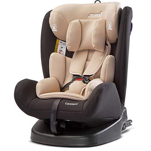 Caretero Mokki Isofix Drehbarer Auto Kindersitz 0-36 kg bis 150 cm Gruppe 0, 1, 2, 3 Beige