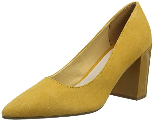 Bianco Damen Suede Pump Pumps, Gelb (Mustard 721), 40 EU