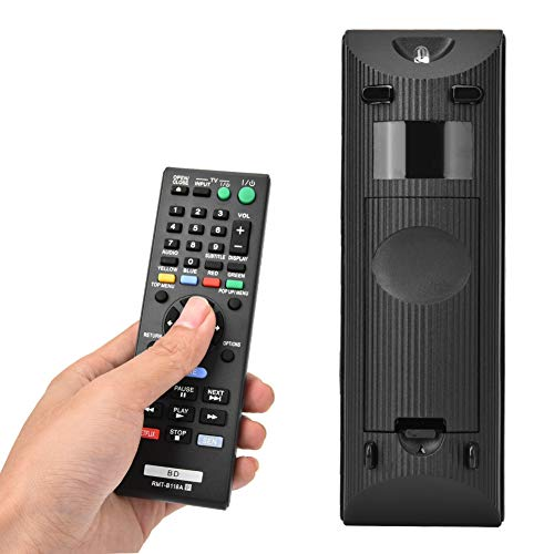 Junluck Controle remoto de material ABS, controle remoto de TV, longa distância de transmissão, operação simples para Sony Blu-ray Player Sony DVD Player Home RMT-B118A