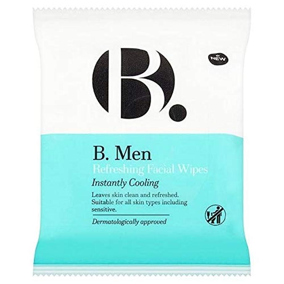 [B Men] B。ワイプをリフレッシュ男性 - B. Men Refreshing Wipes [並行輸入品]
