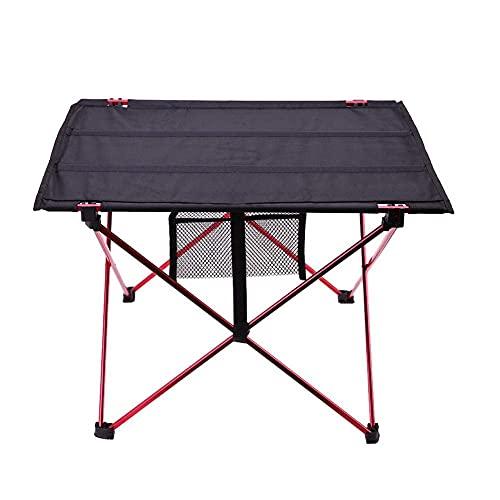 FACAZ Estructura de aleación de Aluminio Plegable al Aire Libre Mesa de Camping Impermeable Muebles Mesa de Picnic Plegable