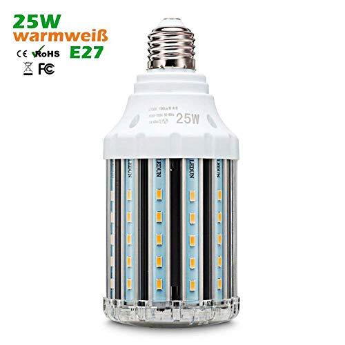 Preisvergleich Produktbild 25W E27 LED Mais Lampe,  Warmweiss 3000K Energiesparlampe Tageslicht LED Maiskolben Leuchtmittel,  Hochleistung 360°Abstrahlwinkel,  Nicht Dimmbar (25W E27 Warmweiss)
