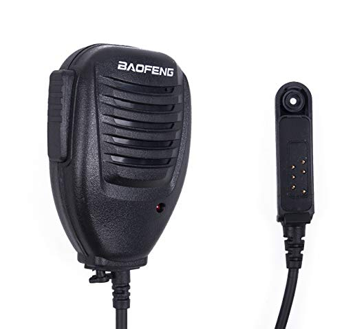 Mengshen Baofeng Impermeabile Microfono Original Waterproof Microphone Rainproof Shoulder Remote Speaker Mic for BaoFeng A58 BF-9700 Waterproof Walkie Talkie Two Way Radio BF-A58_M