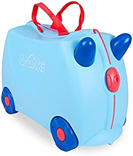 Trunki Ride On Suitcase for Kids, George, Blue