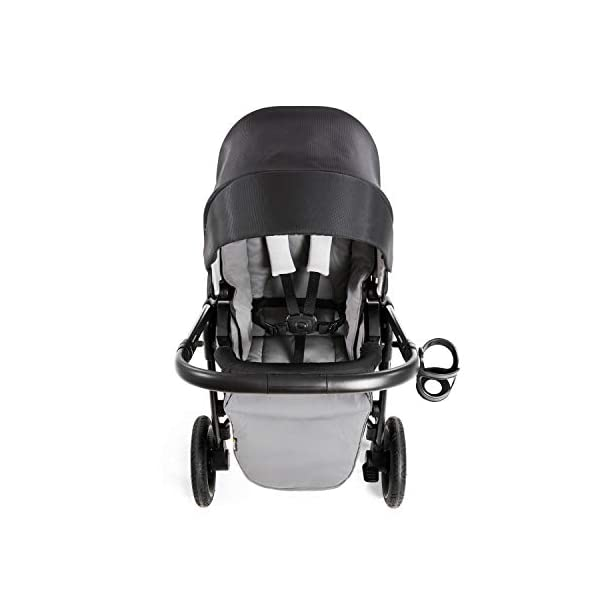 Hauck Hauck Unisex Promenade Chaises Black/Grey Hauck Maximum comfort: backrest and footrest adjustable to the lying position, extra large canopy, height adjustable handlebars, cup holders and foot covers All terrain: the stroller is suitable for both the city and the countryside thanks to the suspension, the high-quality rubber profile and the swivel and lockable front wheels. Swivel: The lightweight sports chair with removable front bar can be rotated towards parents or in moving direction easily in a few seconds. The chair supports a weight of up to 25 kg. 16
