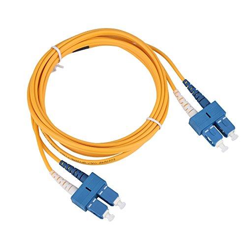 Glasvezeljumper, 3 m SC naar SC duplex glasvezel patchkabel Jumper Kabel Single Mode, glasvezel CATV, voor vezeltestapparatuur, lokaal netwerk, wide area network, enz