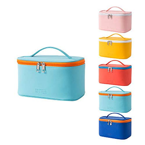 XZP 2020 Newest Hot Portable Multifunction Pouch Toiletry Double Zippers Cosmetic Bag Makeup Travel Leather Case Organizer A 22*12*14cm
