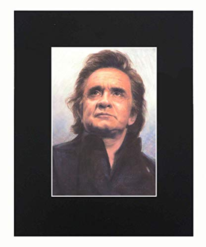 Johnny Cash Portrait Art Print Picture Photograph Mini Poster Gift Wall Decor Display Size with Matted 8x10
