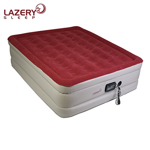 Lazery Sleep Air Mattress - Raised Electric Airbed with Built in Pump & Carry Bag - Fast Inflation, LED Remote Control & 7 Firmness Settings -Queen Matress 78' x 58' x 19'- Blowup Matresses