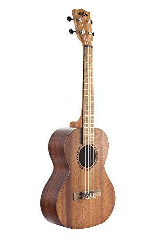 Kit de inicio oficial para aprender a tocar ukelele tenor Kala de caoba satinada que incluye clases en línea, aplicación para afinación y cuadernillo
